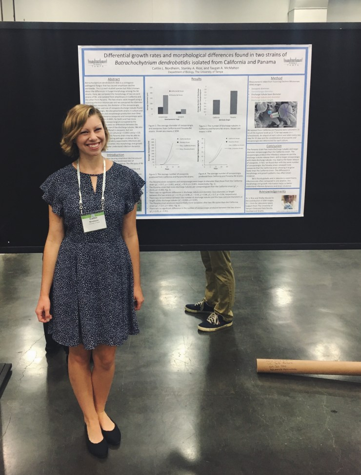 Caitlin Nordheim at the Ecological Society of America's Annual Meeting