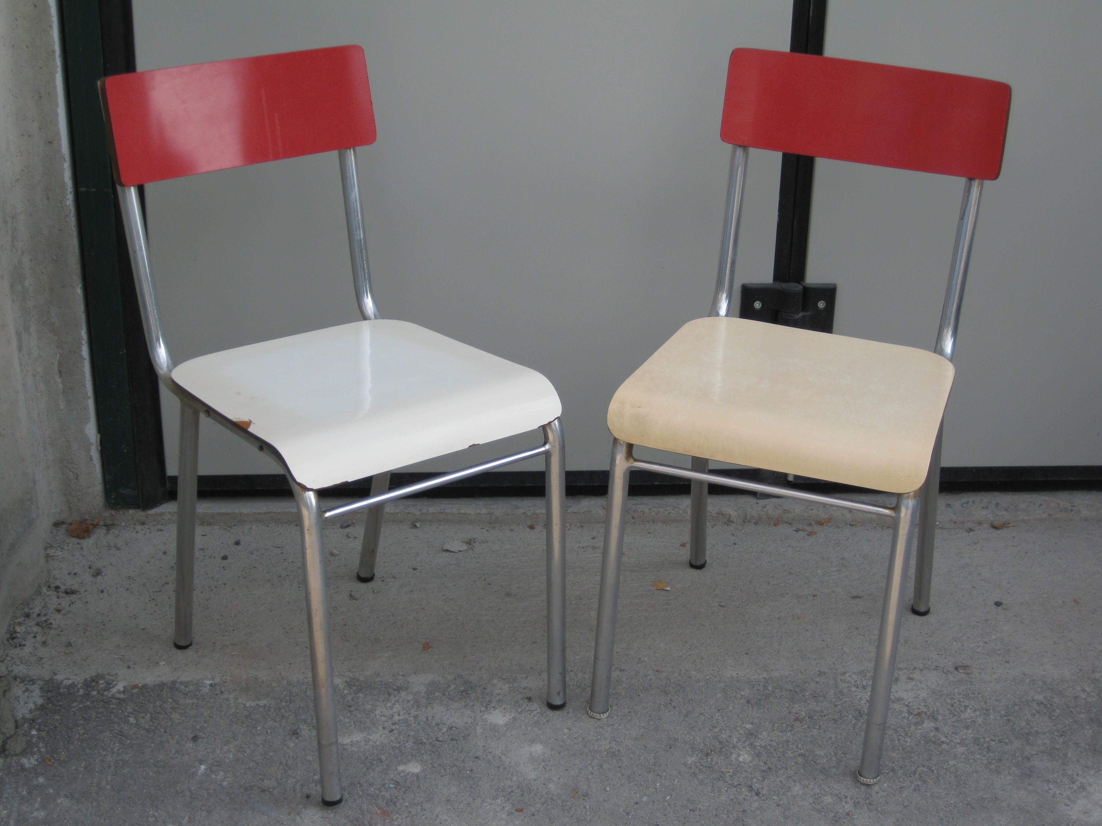 sedie cucina anni 50 anche tavolo rett piccolo  UTILEUSATO