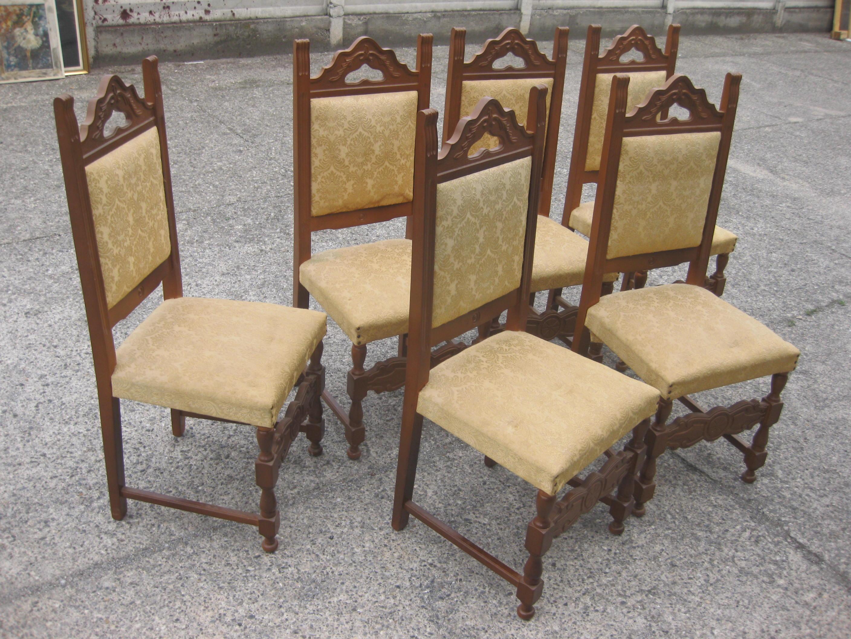 sedie soggiorno ocra 1  UTILEUSATO