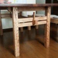 無垢 手作り テーブル脚