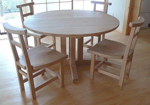 丸テーブル集中型脚