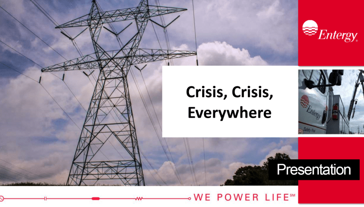 Entergy Electric Utility Social Media Crises