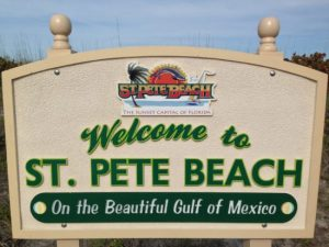 St. Pete Beach Welcome Sign