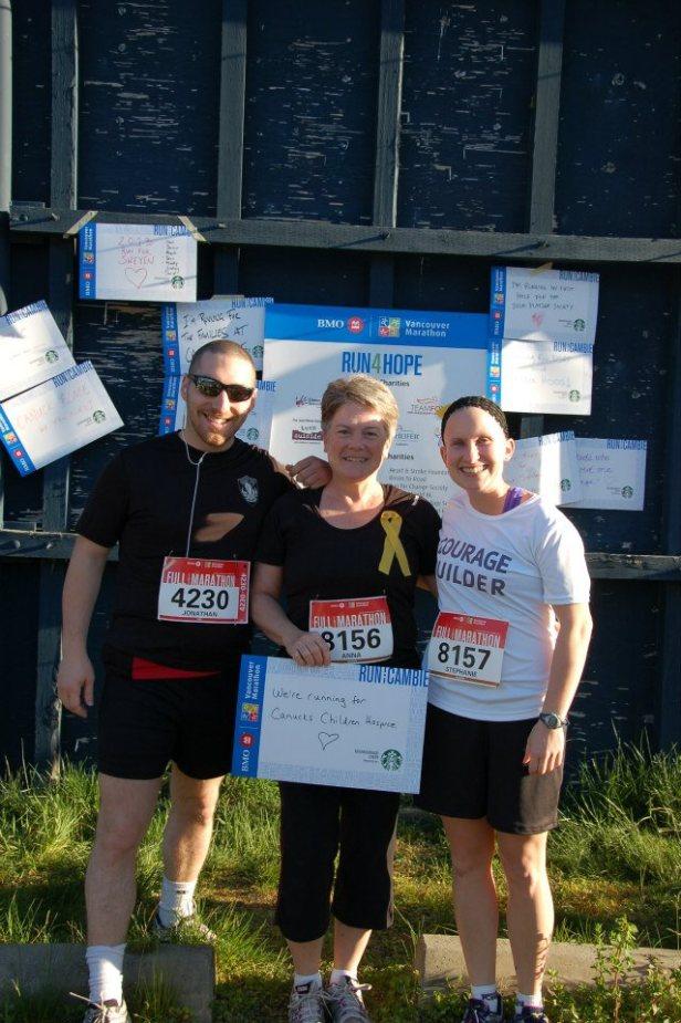 Urban Tactics Marathon Team at BMO Vancouver Marathon