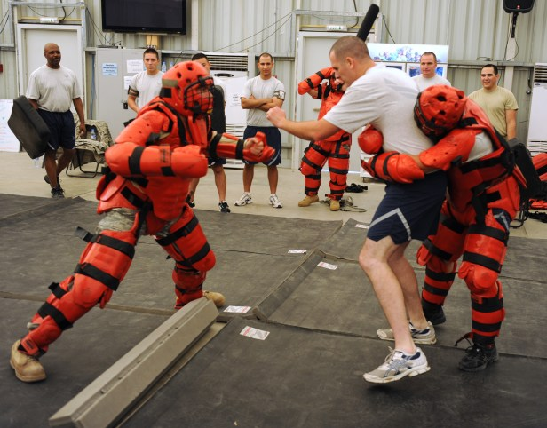 Red men challenge force protection personnel