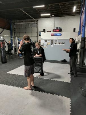 Petra Helping out yellow Belt