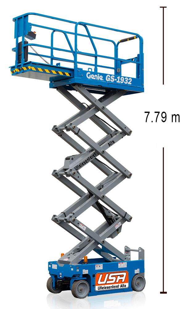 GS1932- Arbeidshøyde 7.79 m