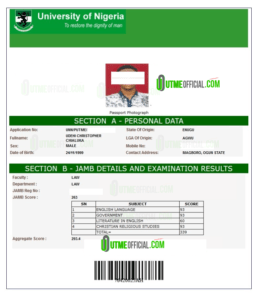 TESTIMONIALS : POST UTME Proves  Admission letter success from candidates