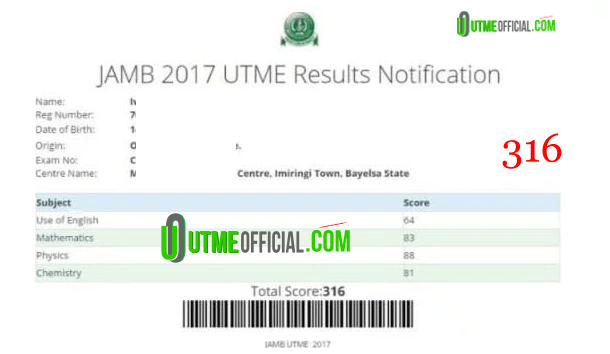 TESTIMONIALS : Past JAMB Results From Our Subscribers /Agent Review