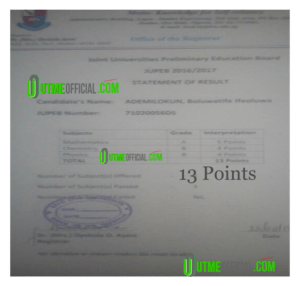 Upgrade 2021  JUPEB Points /Increase JUPEB 2021 Score/Result