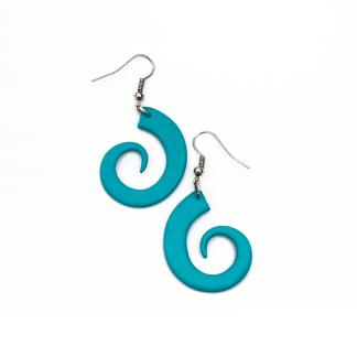 Pendientes Espiral turquesa