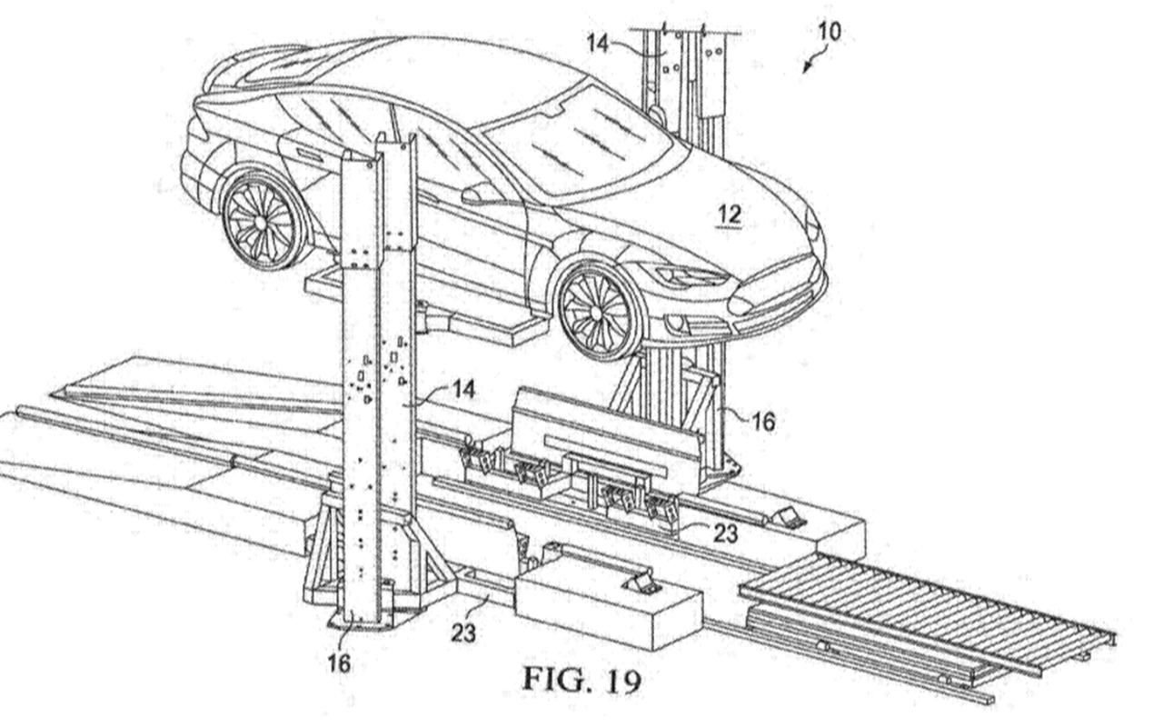 Elektroauto Problem Gelost Tesla Patentiert Anlage Fur Akkuwechsel