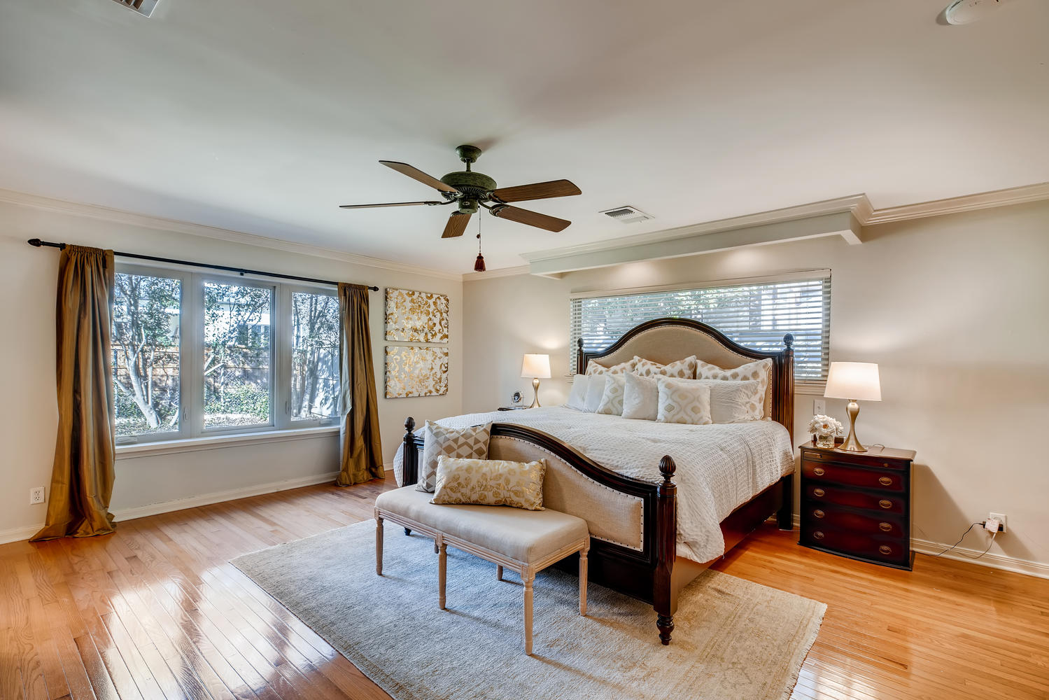 Full home staging in Las Vegas, Nevada, featuring a master bedroom