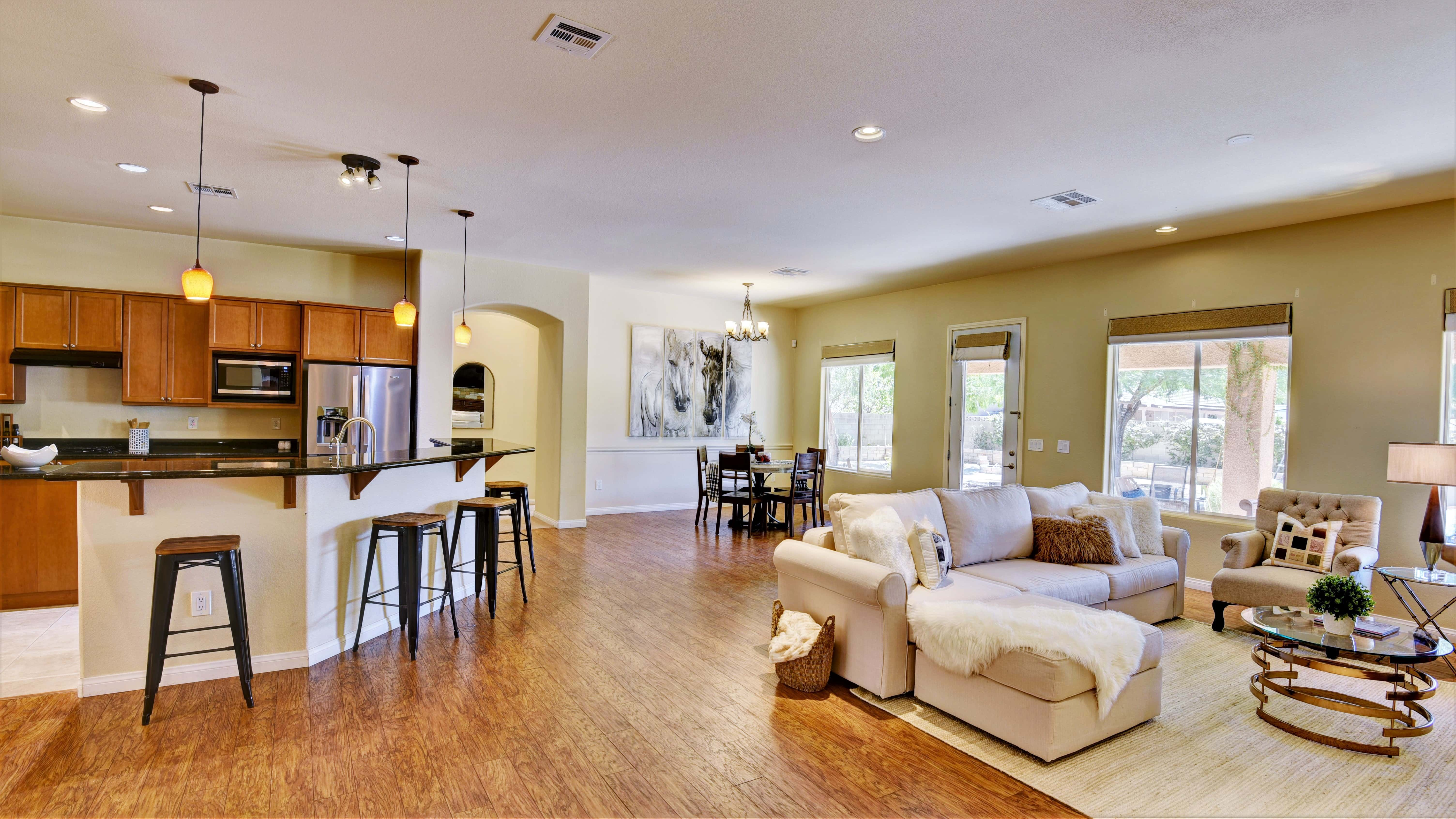 Swipe to see the before in our portfolio gallery of staged homes