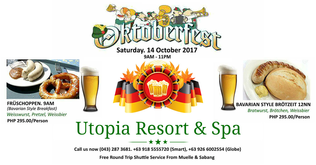 oktoberfest 2017 utopia resort puerto galera
