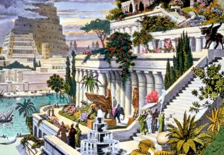 Grădinile Suspendate din Babylon templu