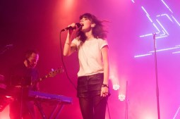 Lauren Mayberry rocking the house at Chvrches' ACL late night show.