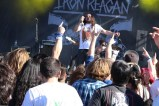 Despite the early set time and scorching heat, metal heads showed up for Iron Reagan's Sunday afternoon performance.​