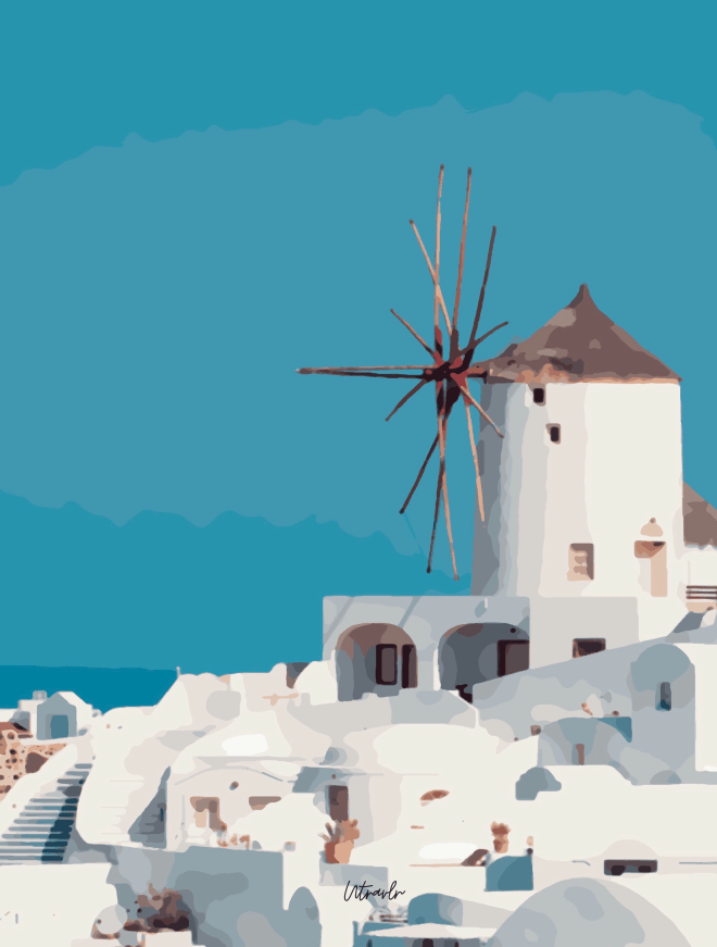 Santorini, Greece by Utravlr
