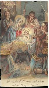 Prayer card laid in. Nueva novena dedicada al milagrosisimo Niño de Ntra. Sra. de Atocha... (190-?).