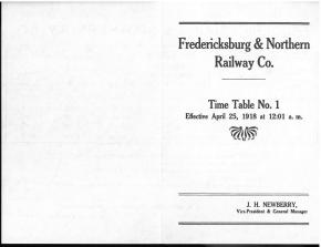 1918 timetable laid in. Rails Through the Hill Country (1973) by F.A. Schmidt.