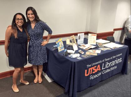 Karina Franco and Leah Rios at the screening held at St. Mary's University
