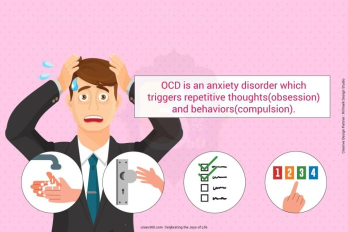 OCD is an anxiety disorder which triggers repetitive obsession and compulsion.