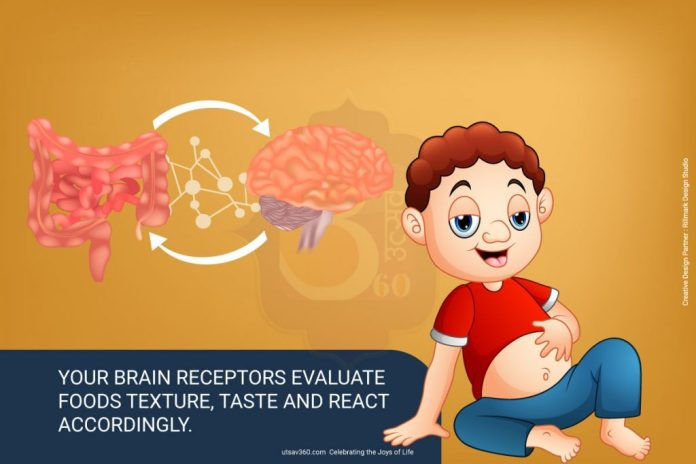 How brain receptors react to food?