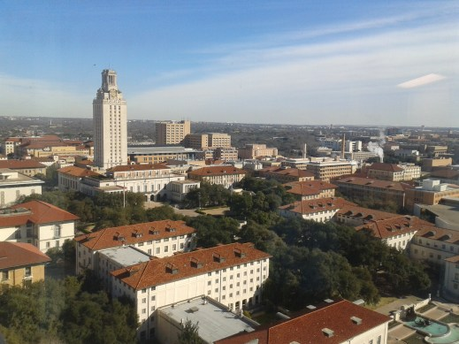 The view of UT campus from my dorm