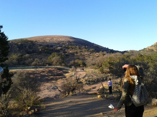 Enchanted Rock - 30 minutes north of Fredericksburg. A lot of families were there which wasn't surprising considering how easy the hike was to get a good view.