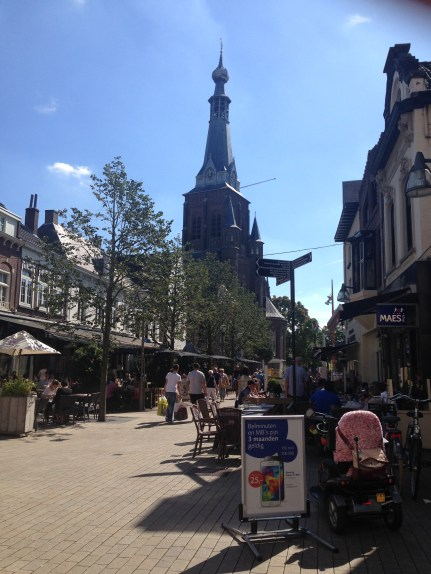One of the main shopping streets in Tilburg