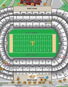 Neyland stadium seating chart also facilities university of tennessee rh utsports