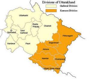 Divisions of Uttarakhand