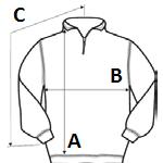 vku6gq sweatshirt collar quarterzip