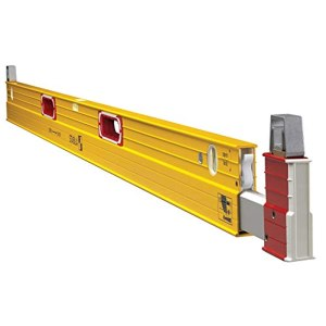 Stabila 35610 Type 106T Extendable Plate Level 6-10 Feet with Removable Standoffs The Extra Long Spirit Level For Accurate Measurements Across Irregularities and Laths