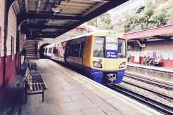 """With full size trains and tube stock using the same platforms, they are positioned at a """"compromise height"""", meaning a step up on an Overground car and a step down to the Overground."""