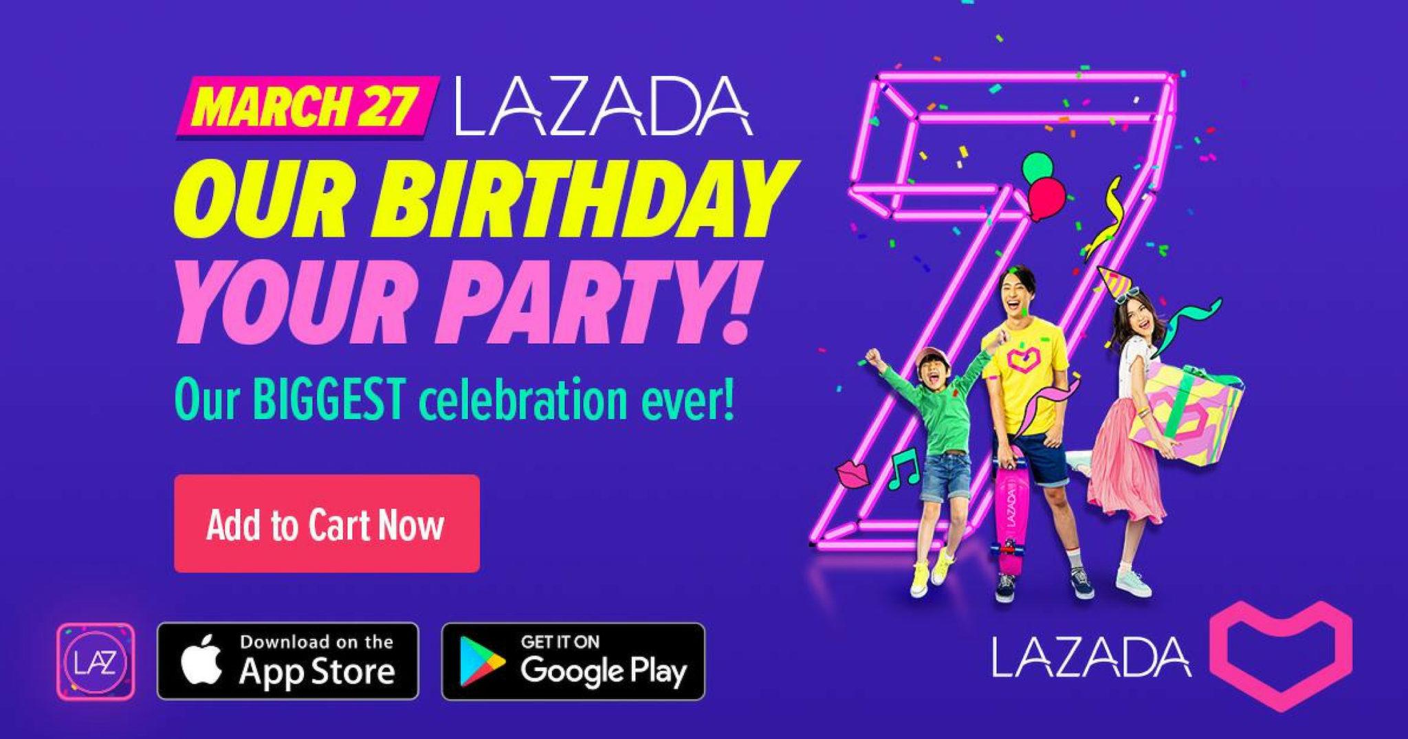 Lazada 7th Birthday Party Header