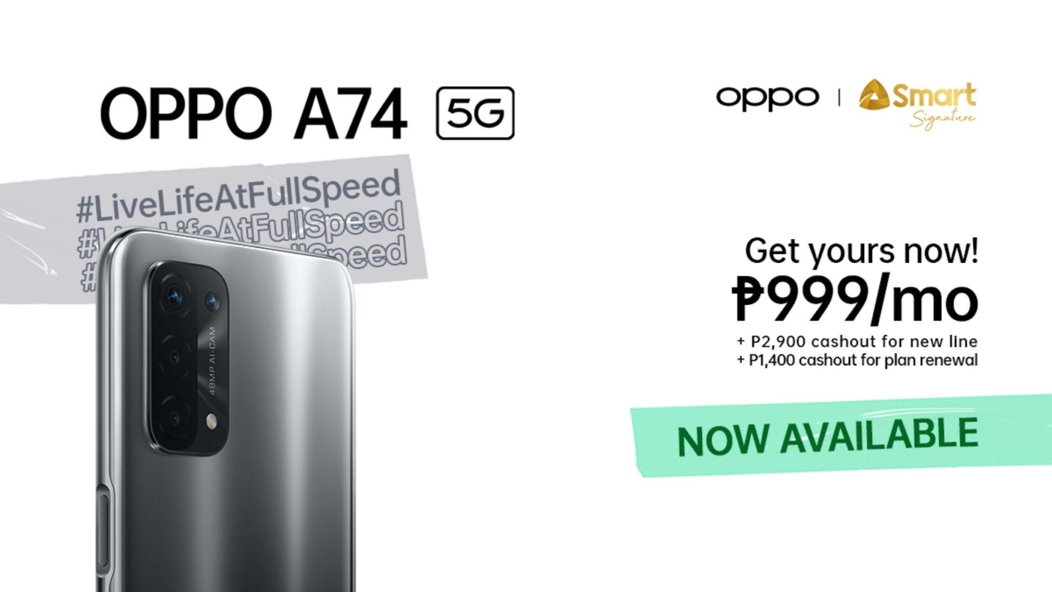 OPPO A74 5G Header