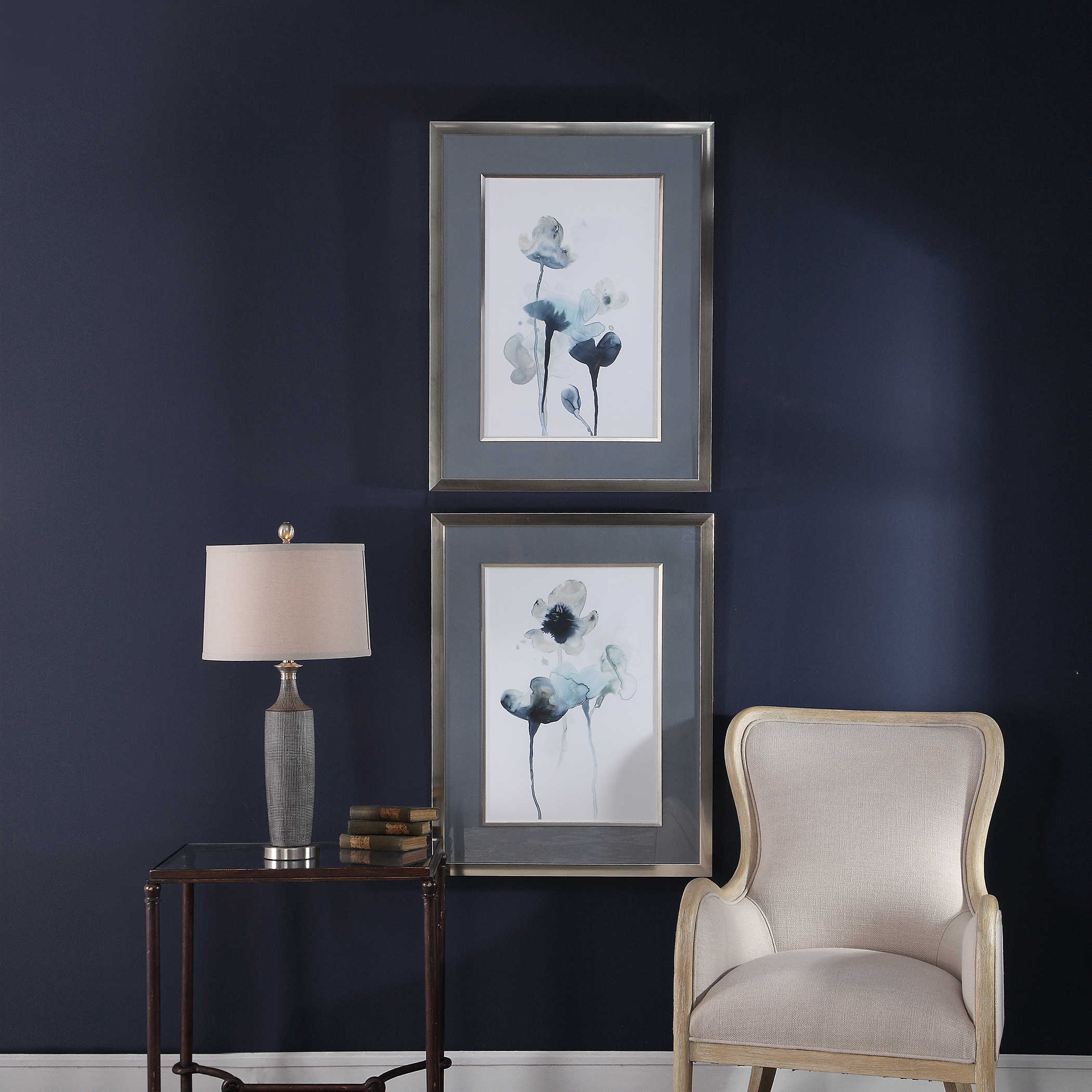 wishing chair photo frame wood arm with cushion uttermost accent furniture mirrors wall decor clocks lamps art 33688 jpg
