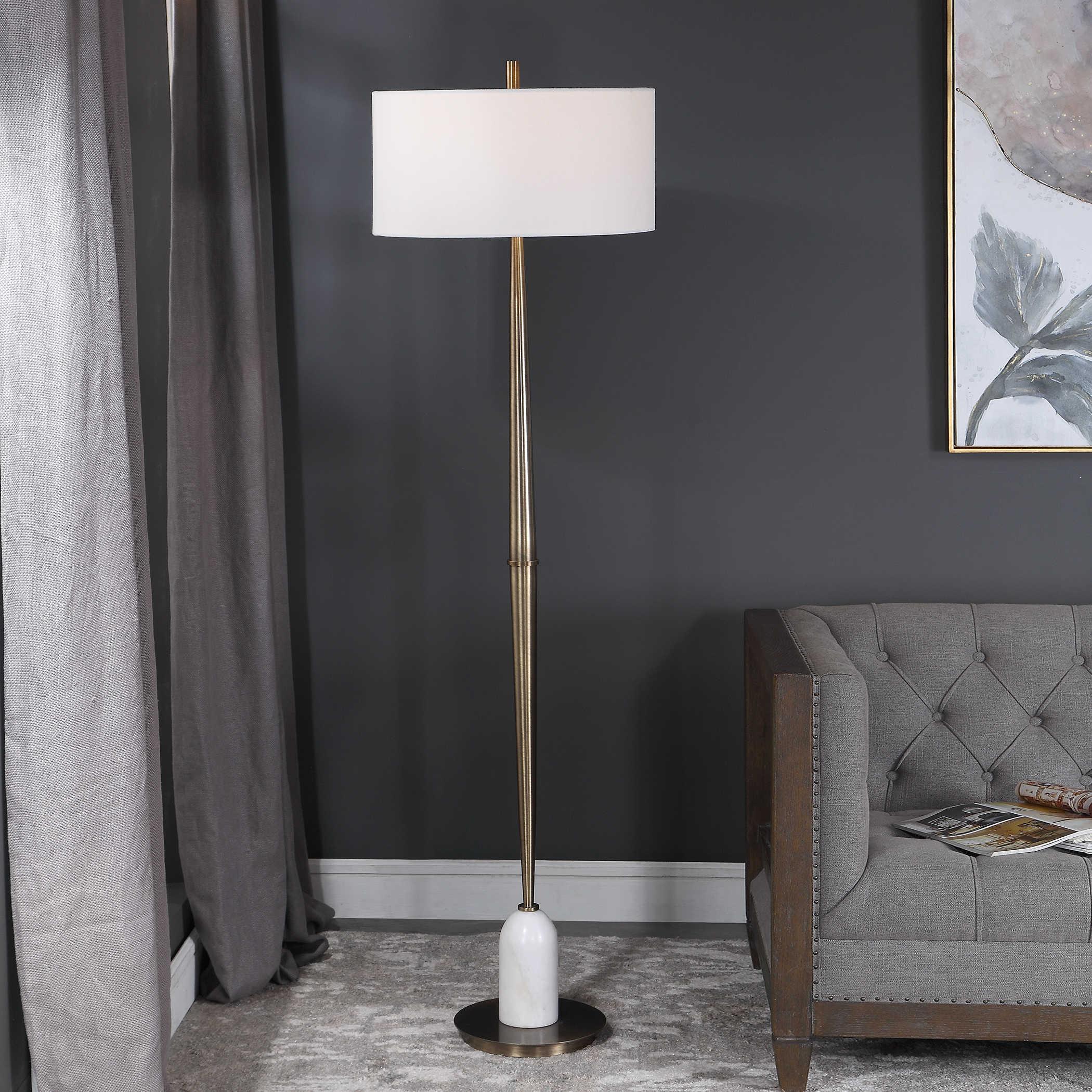 minette floor lamp uttermost