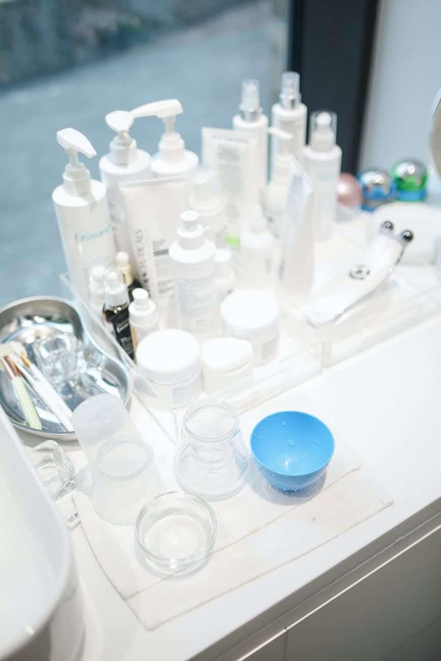 lotions in a beauty salon