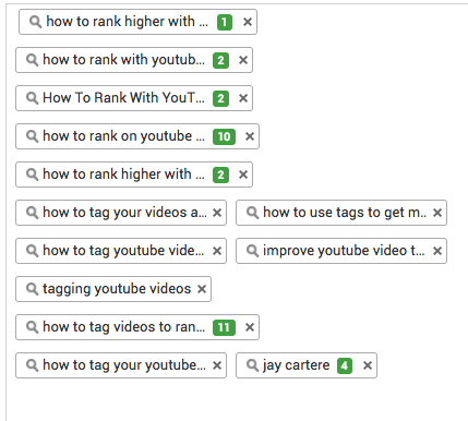 youtube tag ranking
