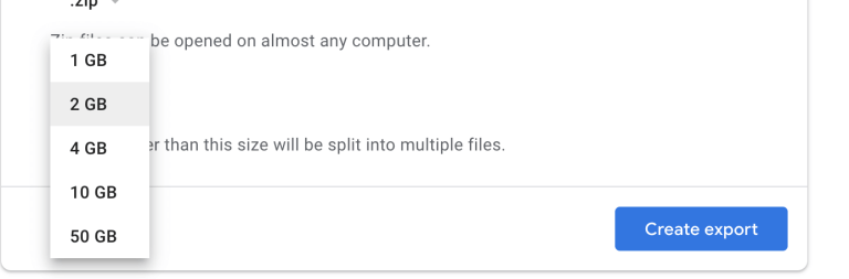 videos backup file size