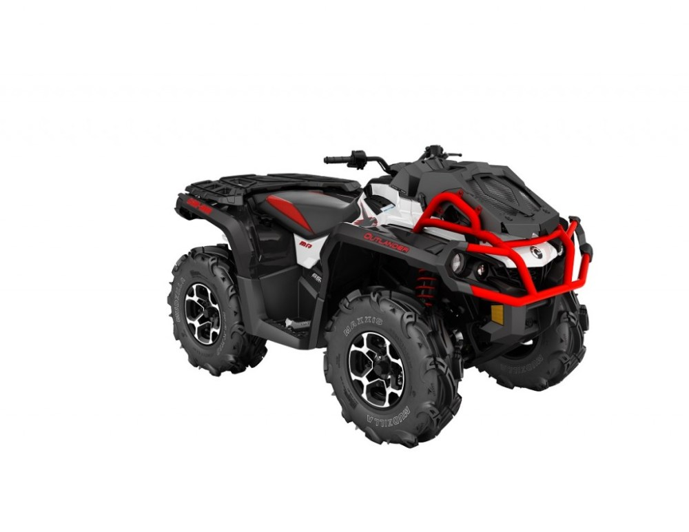 medium resolution of 2016 outlander xmr 650 white black can am red 3 4 front
