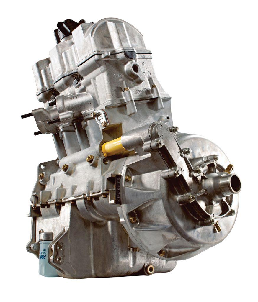 medium resolution of the sportsman 850 s singleoverhead cam eight valve inline twin makes more power
