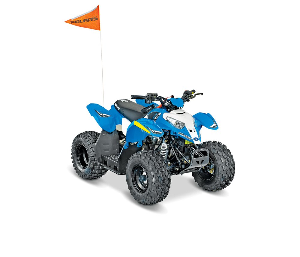 medium resolution of polaris outlaw 50 the outlaw 50 is an easy to ride kids machine that comes with some great extras like a helmet safety flag and a how to ride dvd
