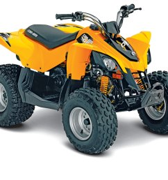 can am s ds 90 has features you won t find on some youth atvs like a fully automatic transmission with a reverse gear daytime running lights and a backup  [ 1200 x 933 Pixel ]
