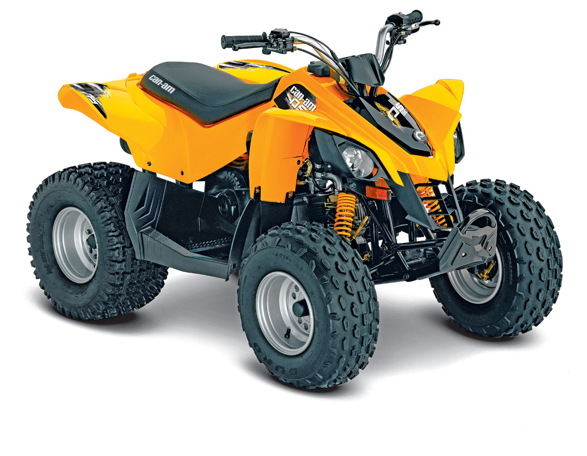 hight resolution of can am s ds 90 has features you won t find on some youth atvs like a fully automatic transmission with a reverse gear daytime running lights and a backup