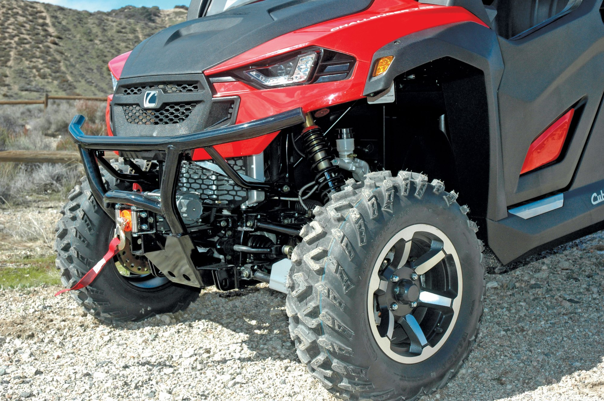 hight resolution of the cub cadet comes with a winch aluminum wheels and other extras like doors and a full windshield at the price of some manufacturers plain base models