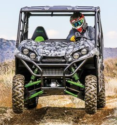 new for 2018 the kawasaki teryx le and teryx4 le is available in matrix camo gray the teryx is a great exploration and adventure utv that does almost  [ 1200 x 800 Pixel ]